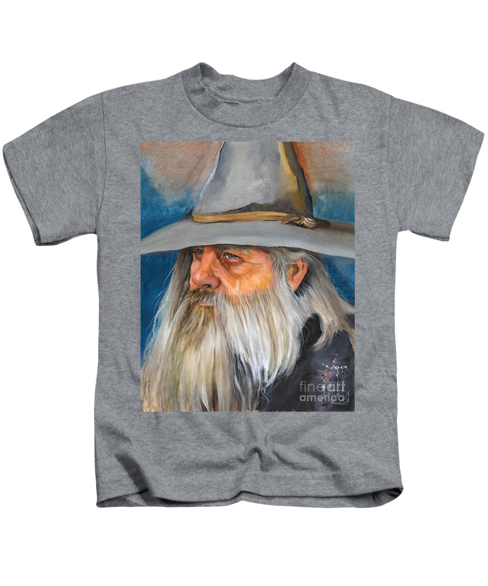 Wizard Kids T-Shirt featuring the painting Grey Days by J W Baker