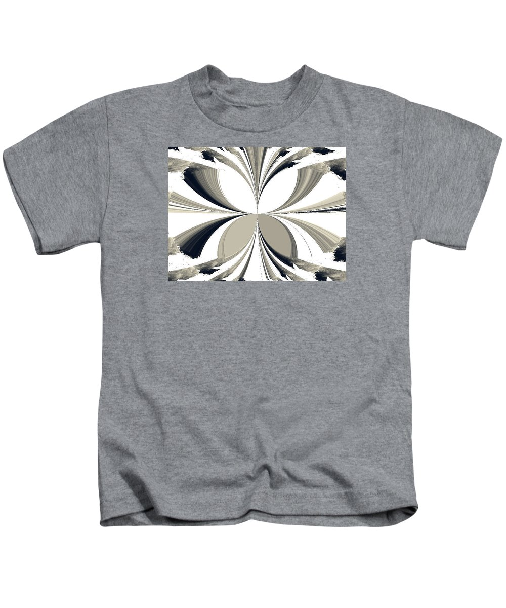 Abstract Kids T-Shirt featuring the photograph Grey Tone Rooster by Dawn Mullis