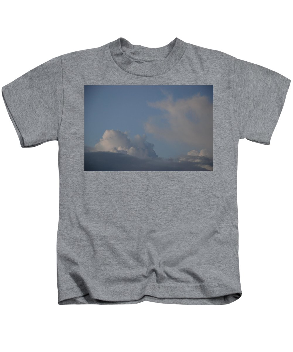 Clouds Kids T-Shirt featuring the photograph Greyskys by Rob Hans