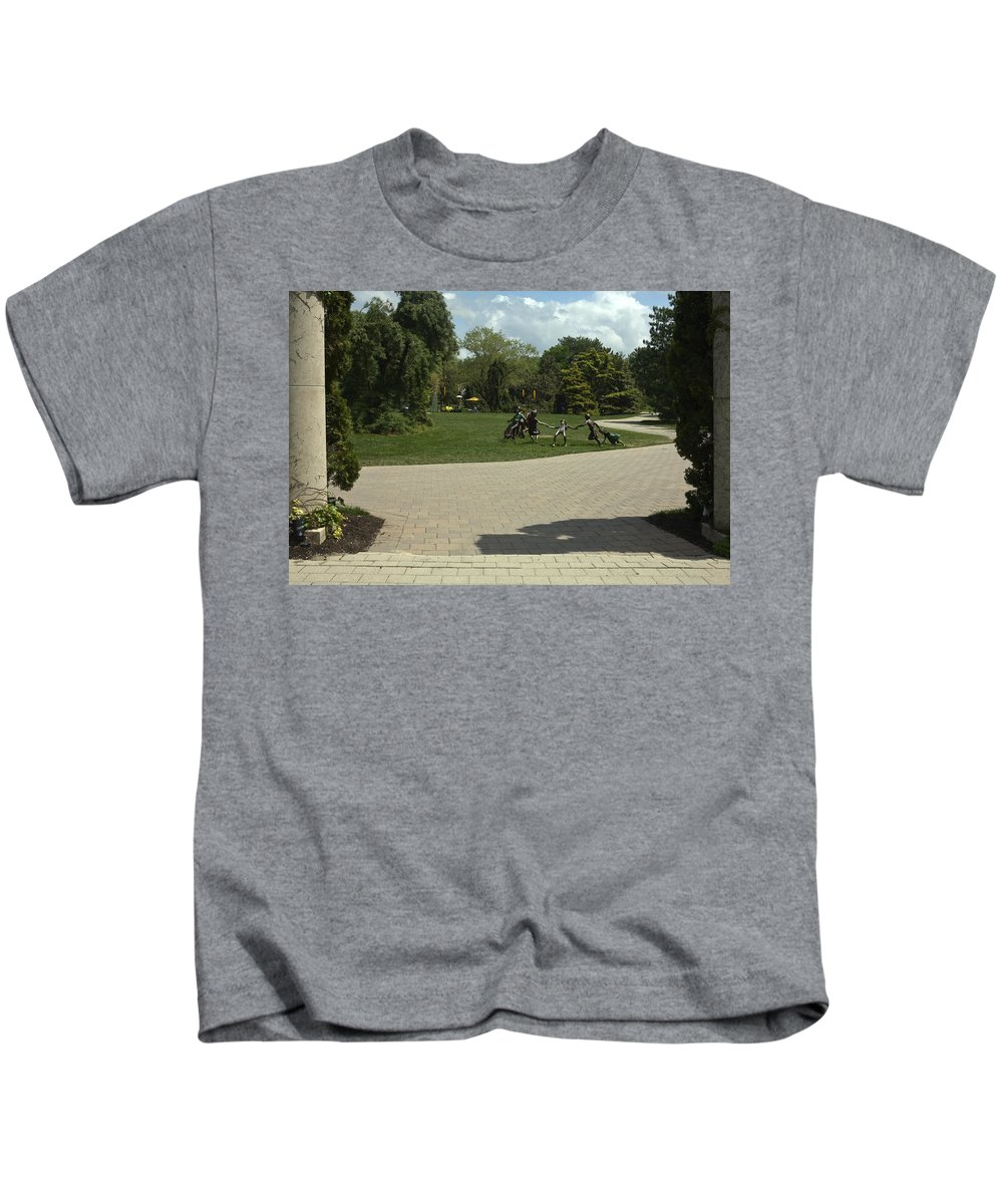 Garden Scene Kids T-Shirt featuring the photograph Grounds For Sculpture by Sally Weigand