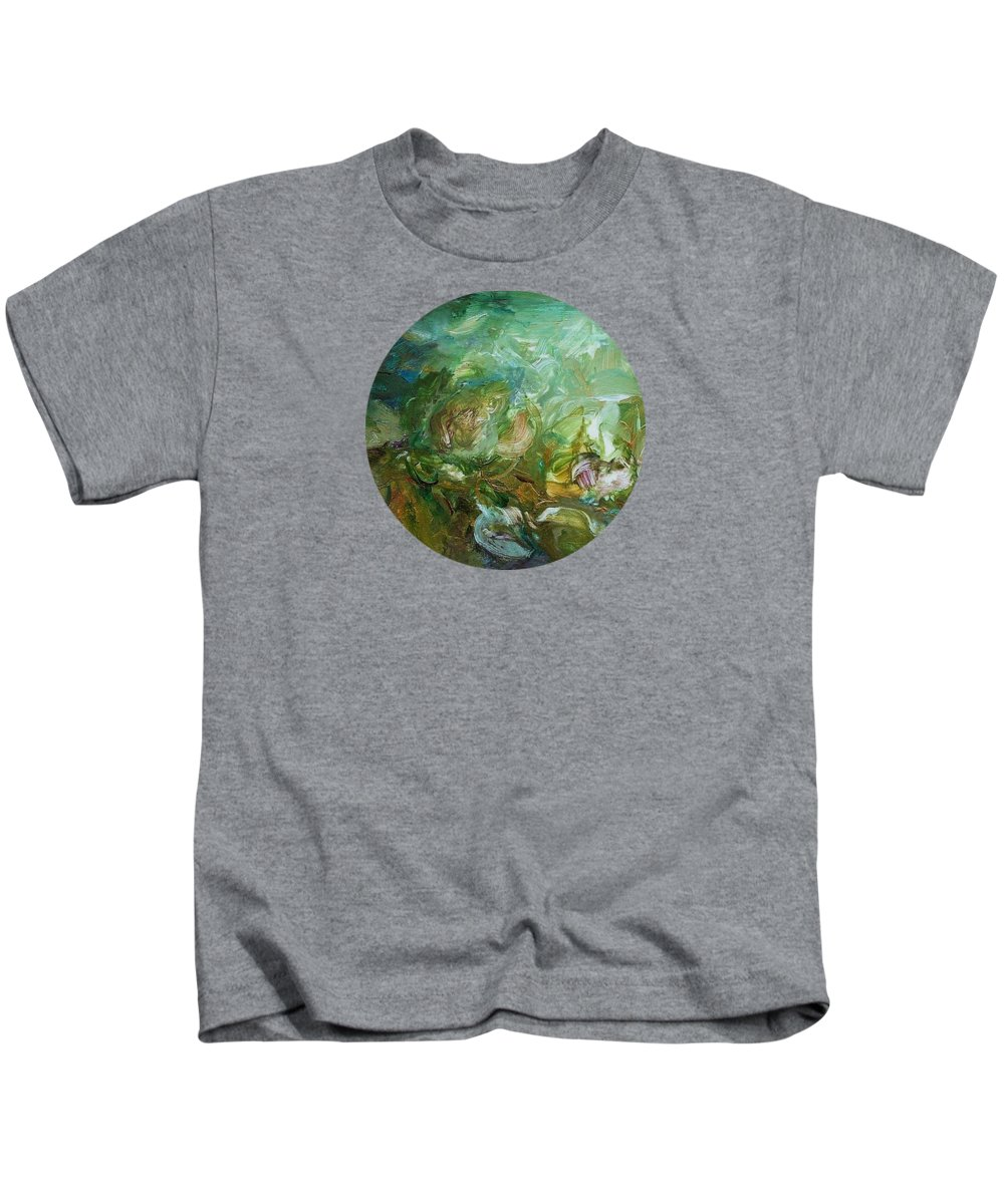 Abstract Kids T-Shirt featuring the painting Growing by Mary Wolf