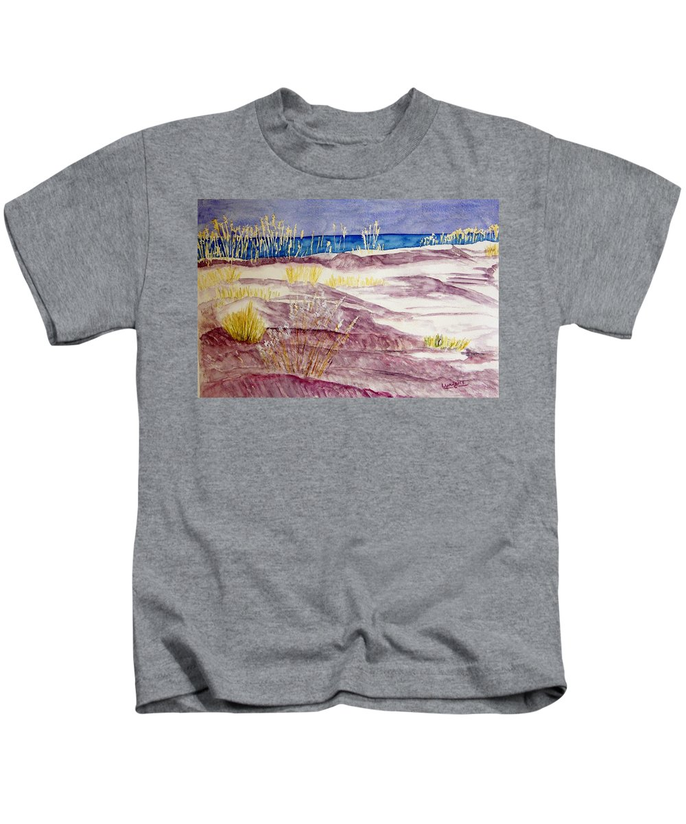 Seascape Kids T-Shirt featuring the painting Gulf Shores Alabama by Larry Wright