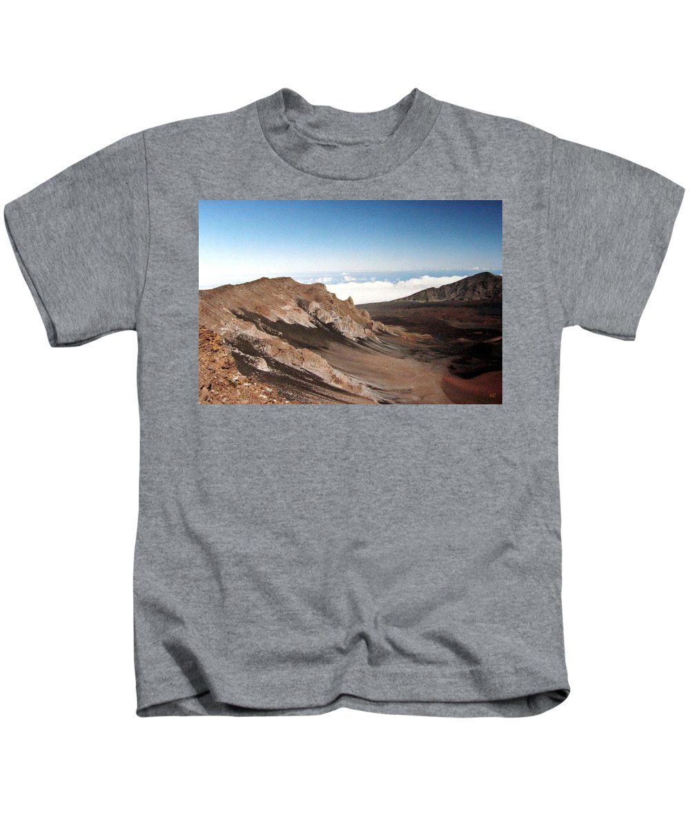 1986 Kids T-Shirt featuring the photograph Haleakala Crater by Will Borden