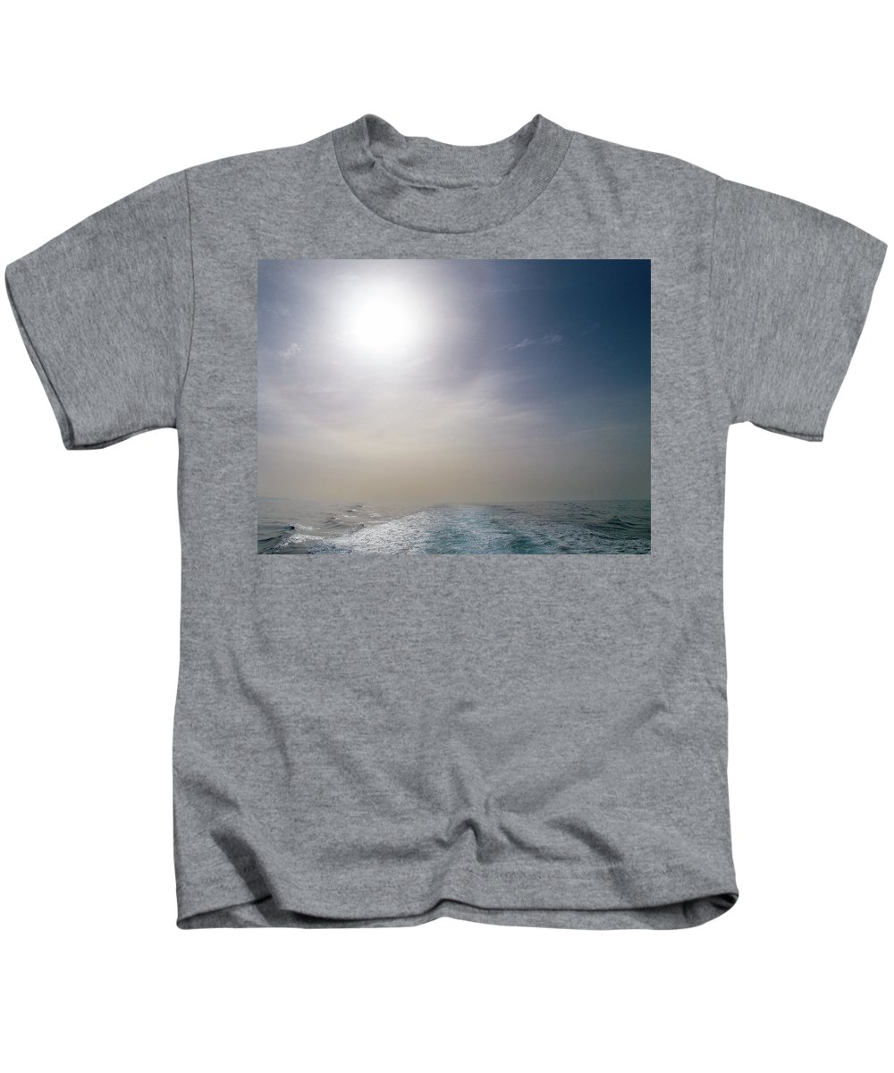 Valasretki Kids T-Shirt featuring the photograph Halo Over Atlantic Ocean by Jouko Lehto