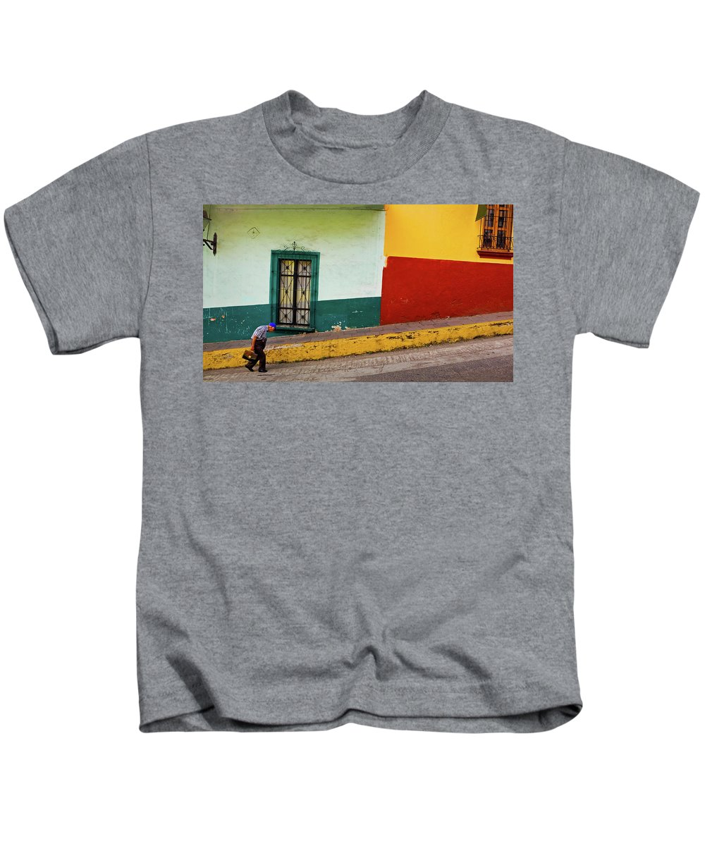 Man Kids T-Shirt featuring the photograph Hard Knock Life by Skip Hunt