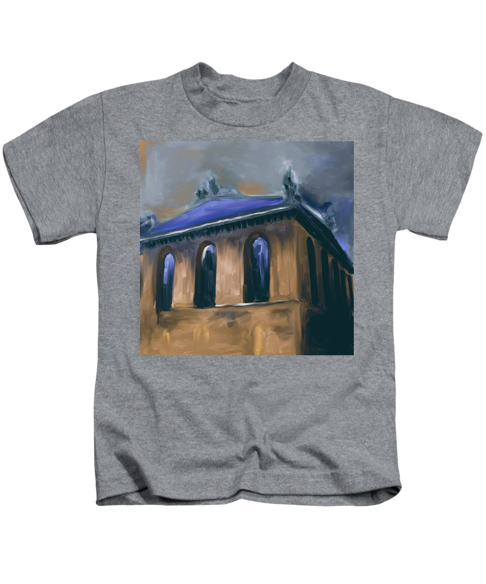 Chicago Kids T-Shirt featuring the painting Harold Washington Library 539 2 by Mawra Tahreem