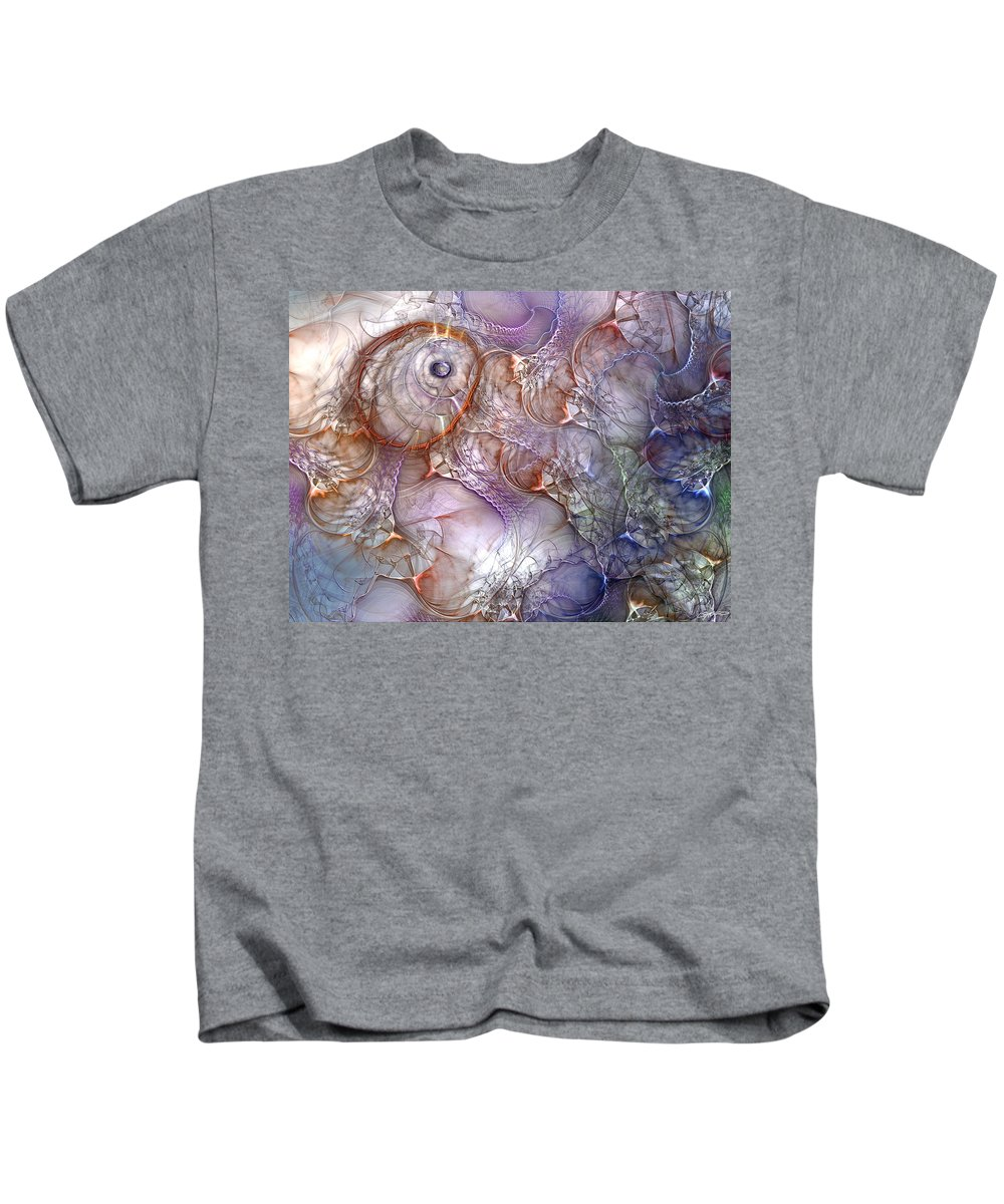 Abstract Kids T-Shirt featuring the digital art Hatching Controversy by Casey Kotas