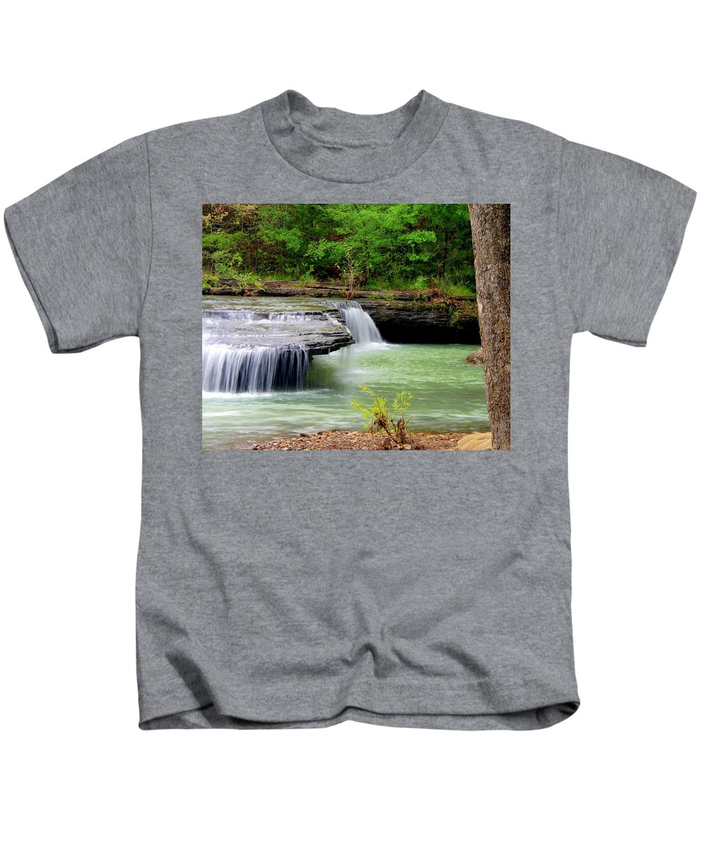 Waterfalls Kids T-Shirt featuring the photograph Haw Creek Falls by Marty Koch