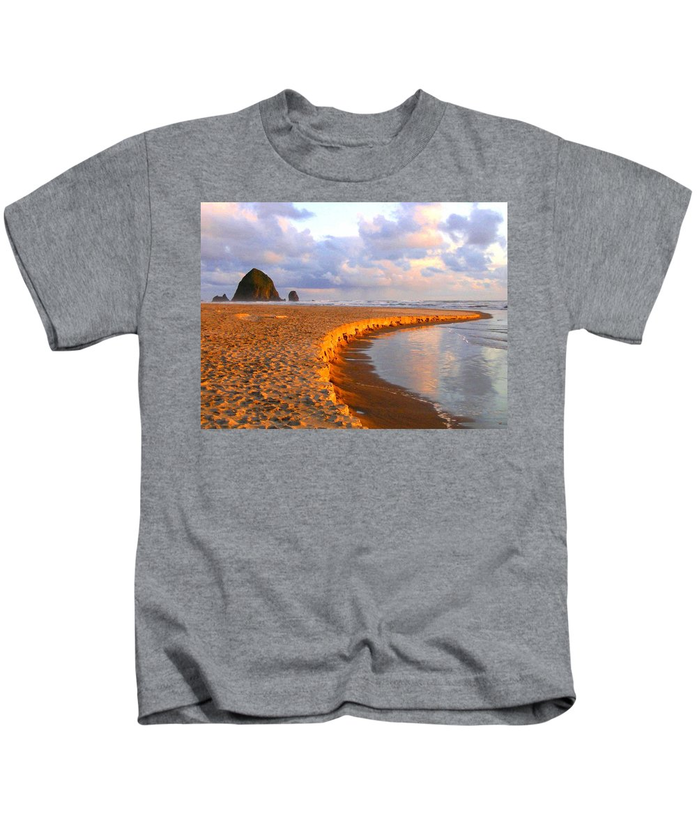 Haystack Heaven Kids T-Shirt featuring the digital art Haystack Heaven by Will Borden