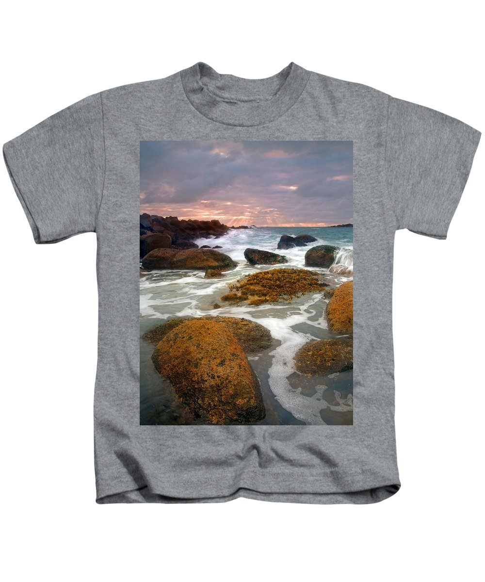 Sunrise Kids T-Shirt featuring the photograph Heavenly Dawning by Mike Dawson