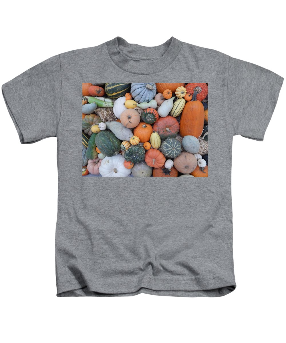 Produce Kids T-Shirt featuring the photograph Heirlooms On Display #3 by Glen Faxon