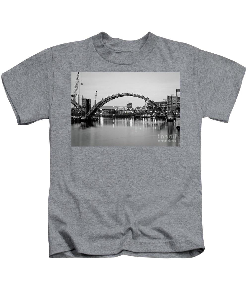Henley Kids T-Shirt featuring the photograph Henley Street Bridge Renovation 3 by Douglas Stucky