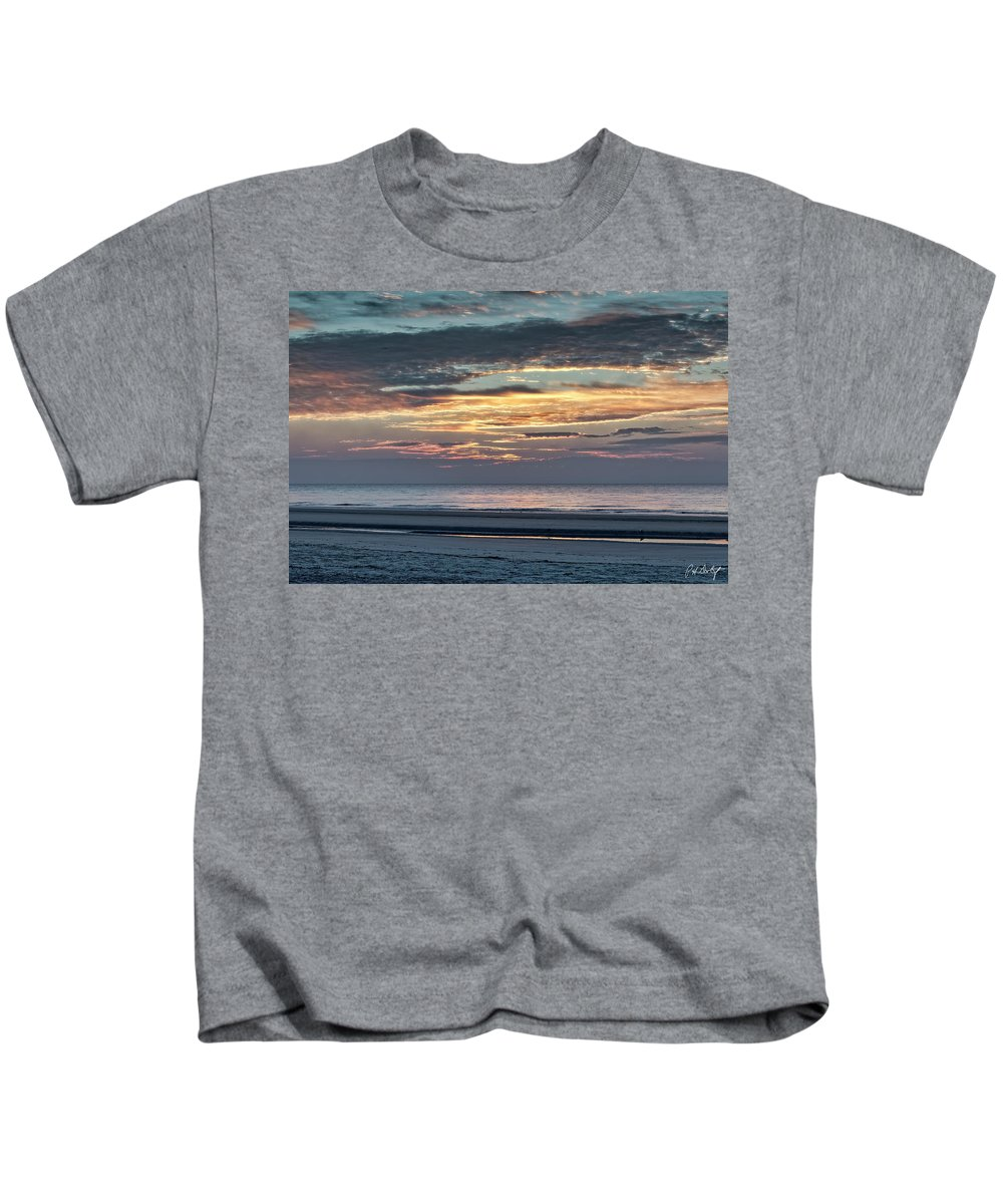 Atlantic Ocean Kids T-Shirt featuring the photograph Here Comes The Sun by Phill Doherty