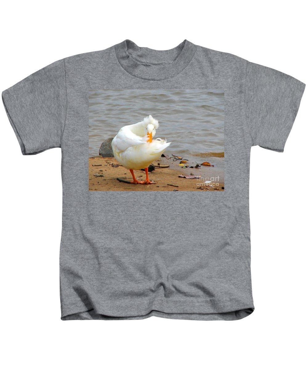 Duck Kids T-Shirt featuring the photograph Here's Looking At You by Todd Blanchard