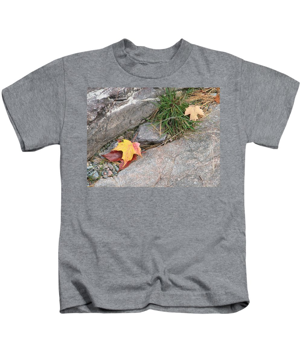 Fall Kids T-Shirt featuring the photograph Hiding by Kelly Mezzapelle