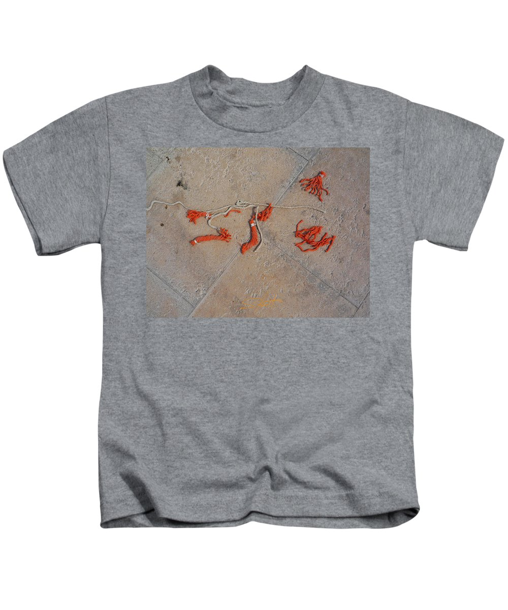 Fishing Net Kids T-Shirt featuring the photograph High And Dry by Charles Stuart