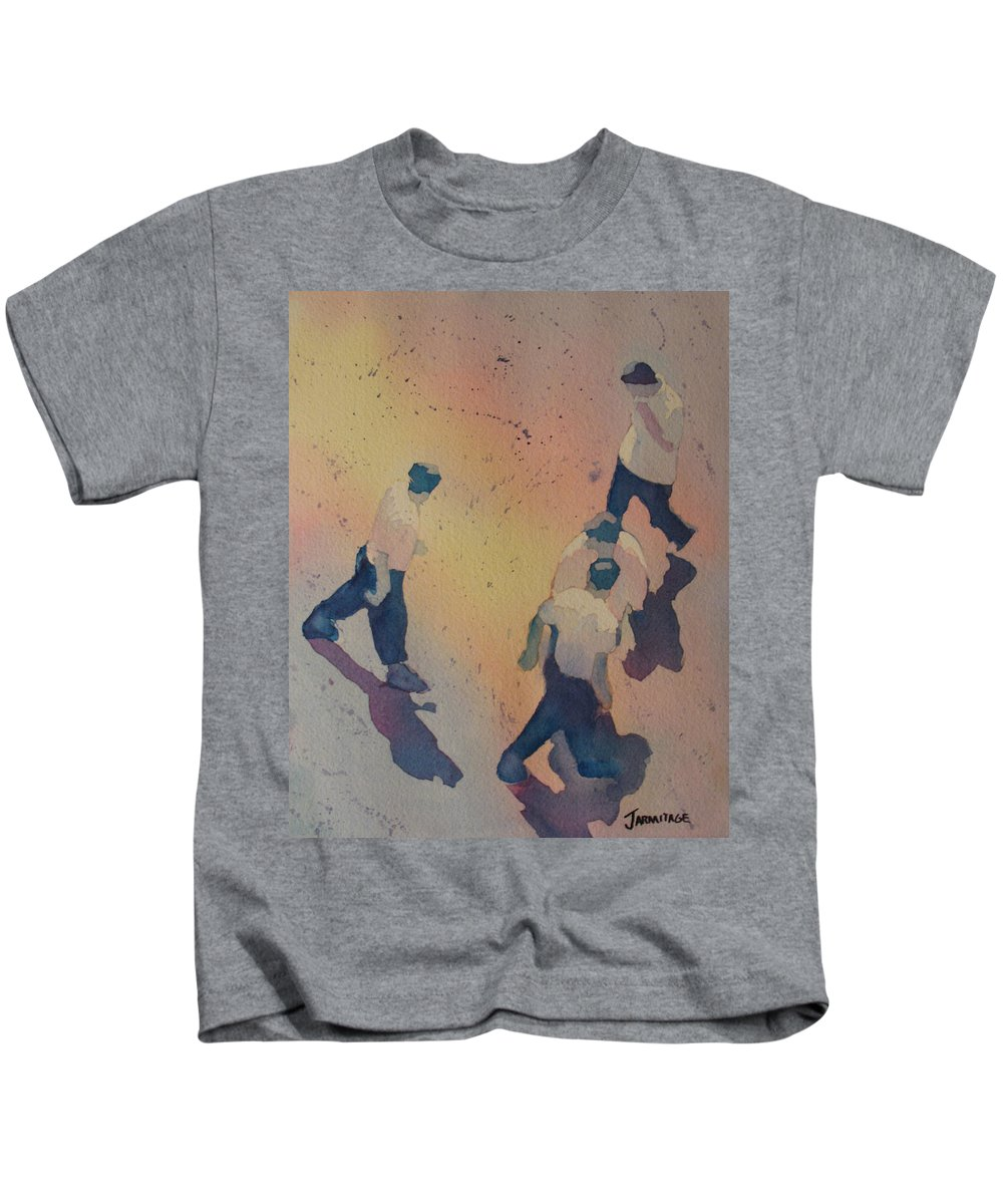 Men Kids T-Shirt featuring the painting High Noon At The Gravel Spit I by Jenny Armitage