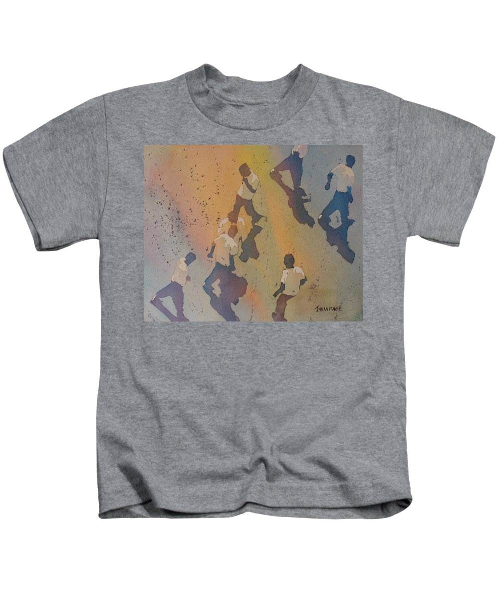 Men Kids T-Shirt featuring the painting High Noon At The Gravel Spit II by Jenny Armitage