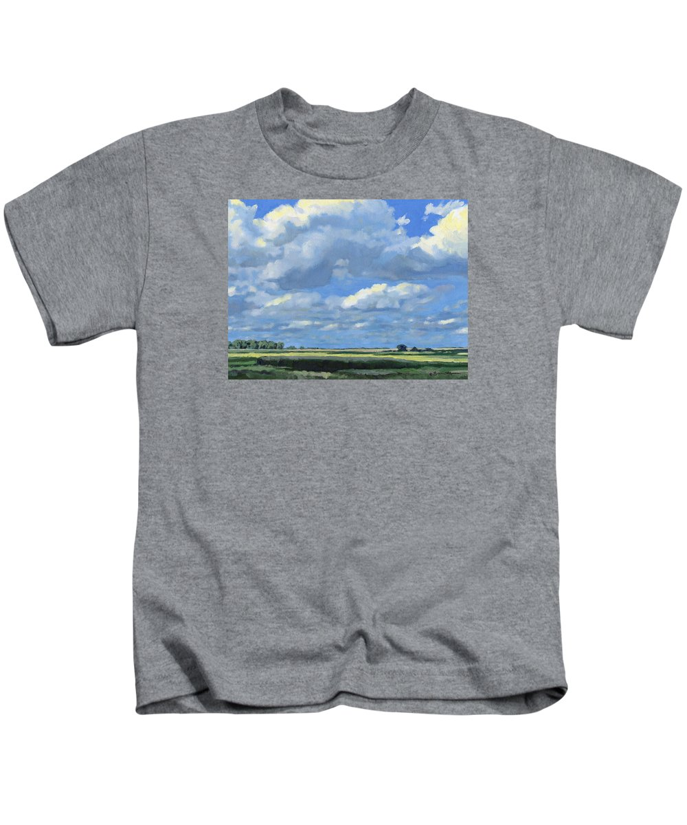 Landscape Kids T-Shirt featuring the painting High Summer by Bruce Morrison