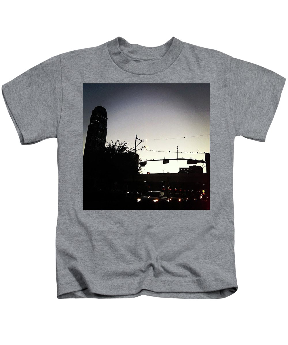 Highway Kids T-Shirt featuring the photograph Highway Birds by Claire Kenney