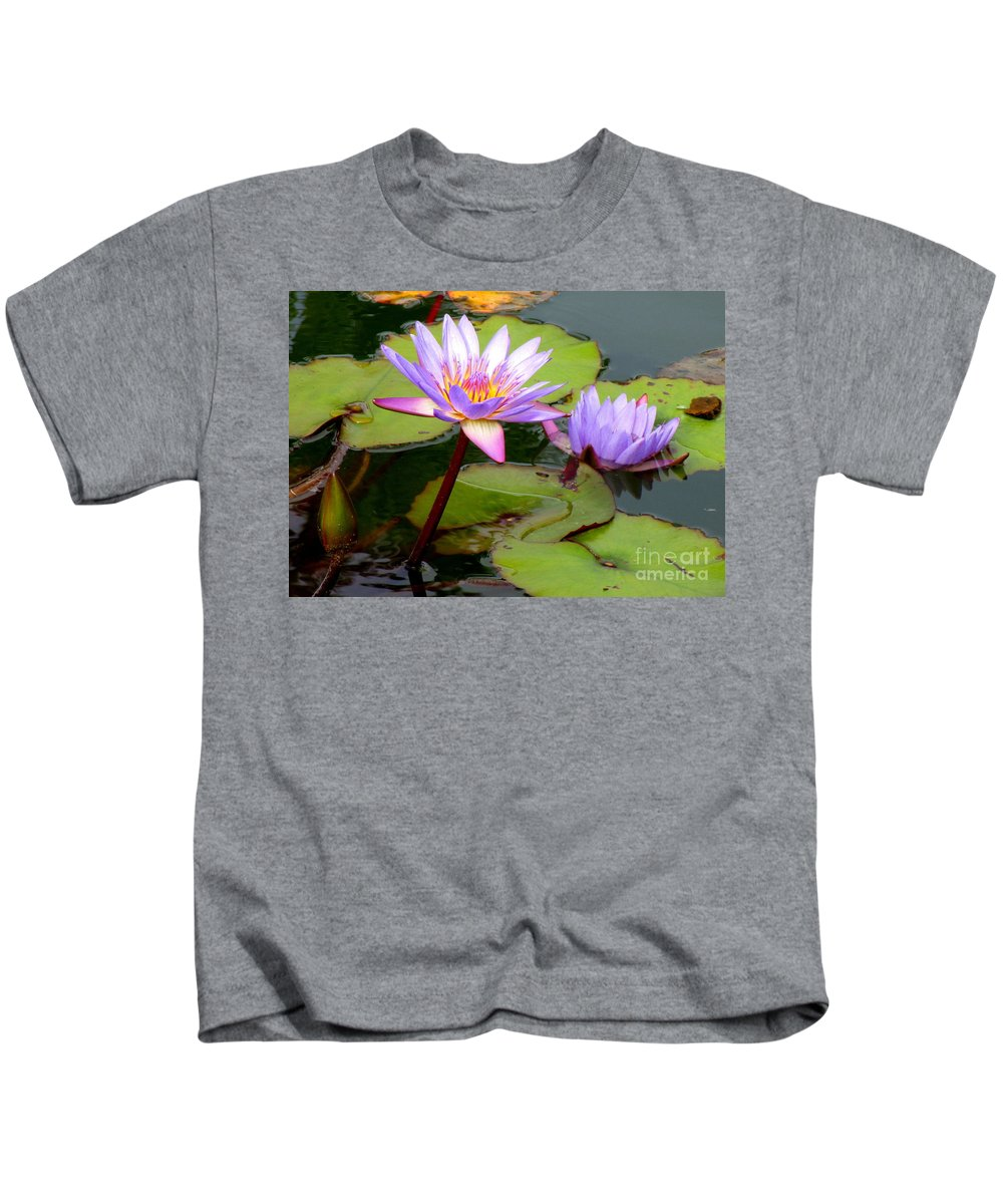 Water Lilly Kids T-Shirt featuring the photograph Hilo Water Lily 2 by Randall Weidner