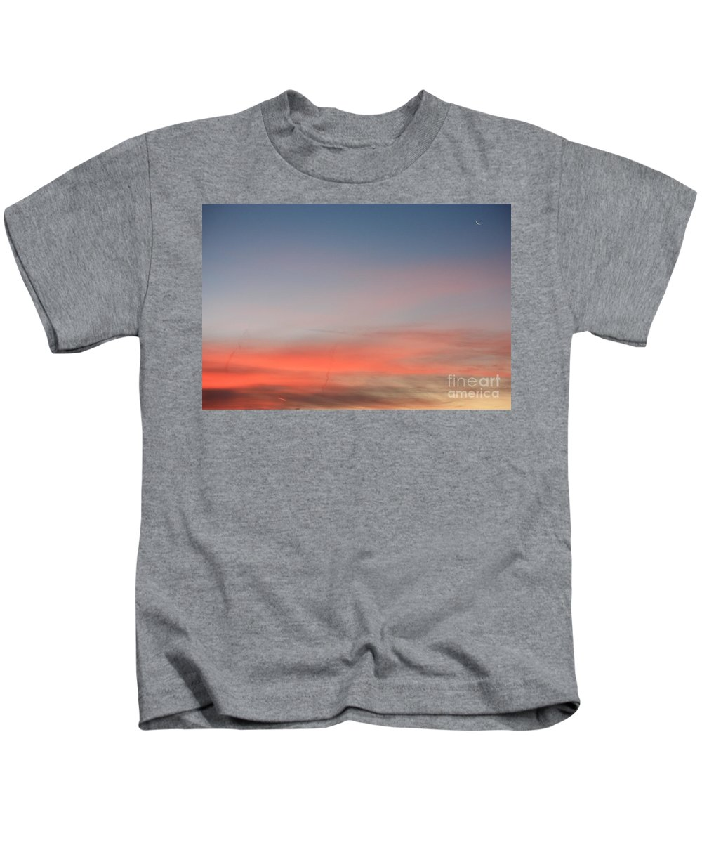 Sky Kids T-Shirt featuring the photograph Hint Of The Moon by Brook Steed