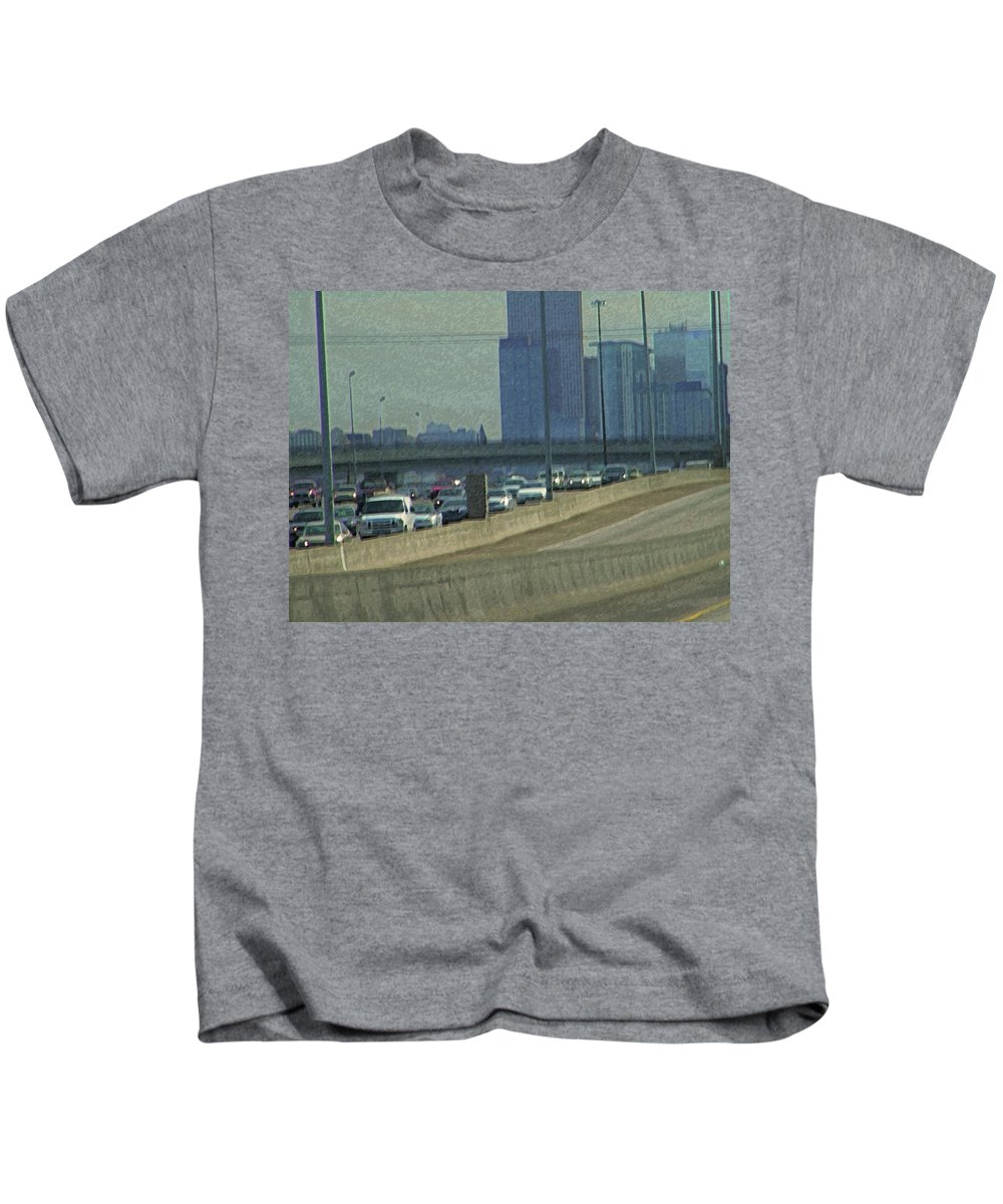 Abstract Kids T-Shirt featuring the photograph Hitting Denver by Lenore Senior
