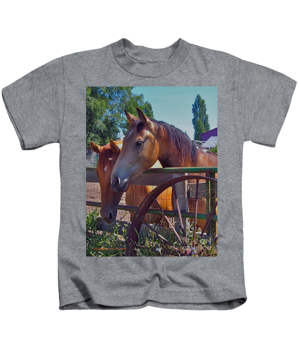 Cityscape Kids T-Shirt featuring the photograph Horse by Italian Art