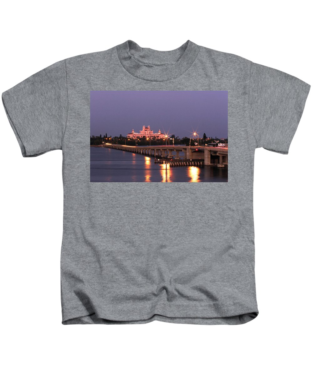 Don Cesar Kids T-Shirt featuring the photograph Hotel Don Cesar The Pink Palace St Petes Beach Florida by Mal Bray