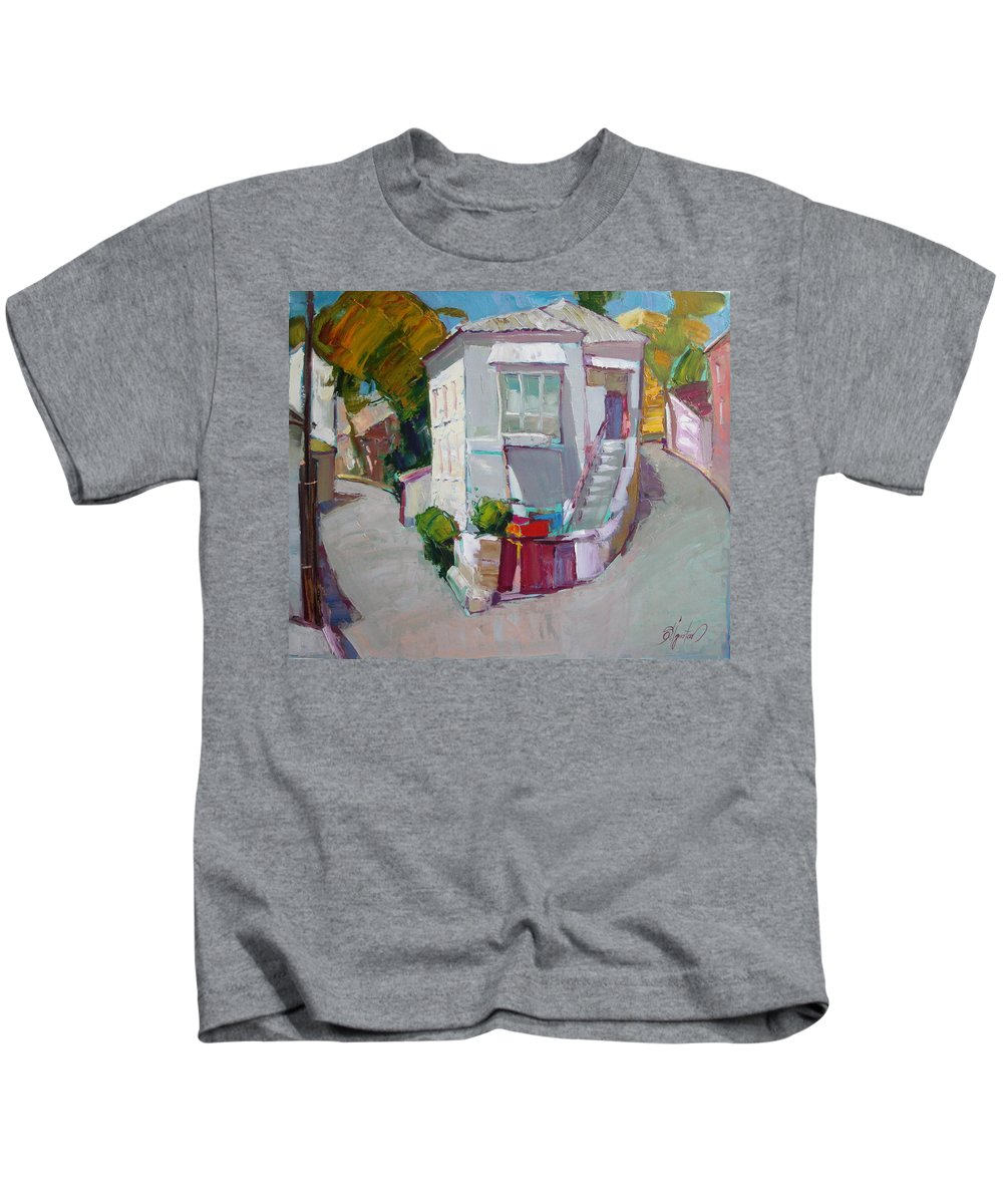 Ignatenko Kids T-Shirt featuring the painting Hous In Crimea by Sergey Ignatenko