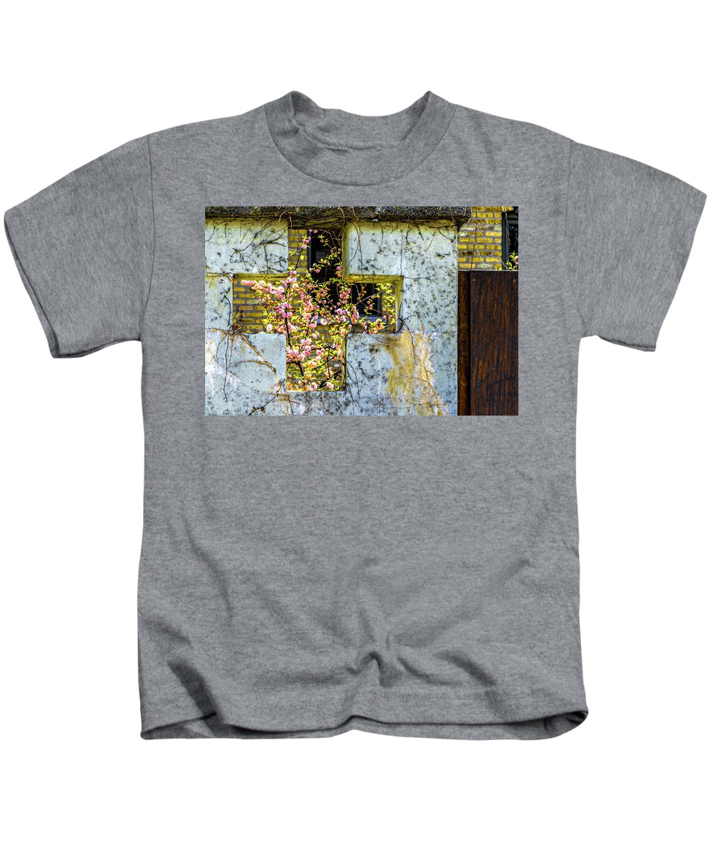 House Near Webster Kids T-Shirt featuring the photograph House Near Webster And Clybourn V4 Dsc4055 by Raymond Kunst