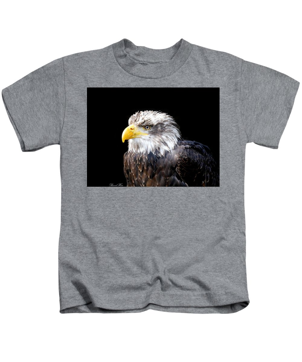 #nature Photography #nature #animals #wildlife #art #fineart #artist #nature Pics #animal Pics #birds #eagle #falcon Kids T-Shirt featuring the photograph I Am The Law by Bernd Hau