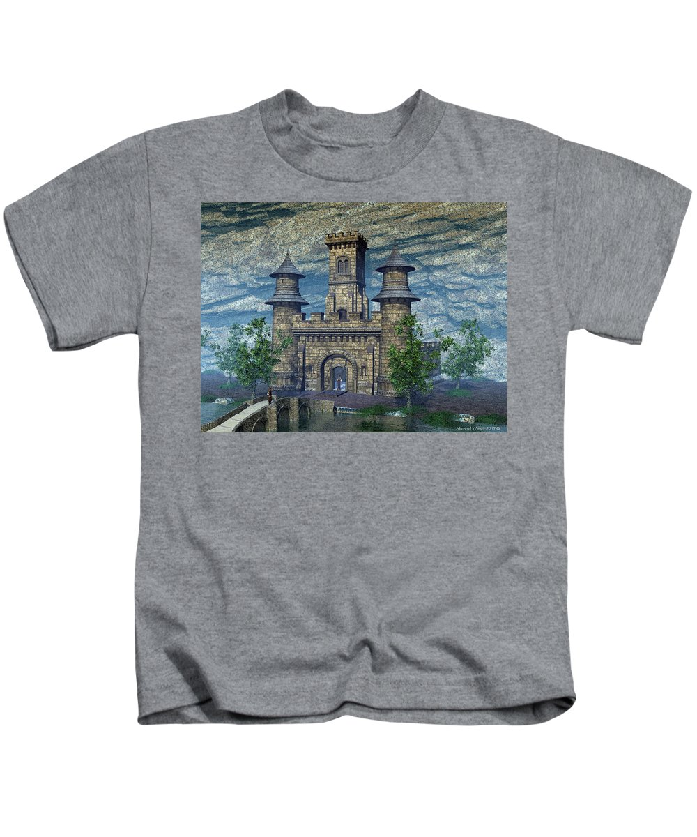 Fantasy Kids T-Shirt featuring the digital art I See A Big Fish - Go Get Our Fishing Poles by Michael Wimer