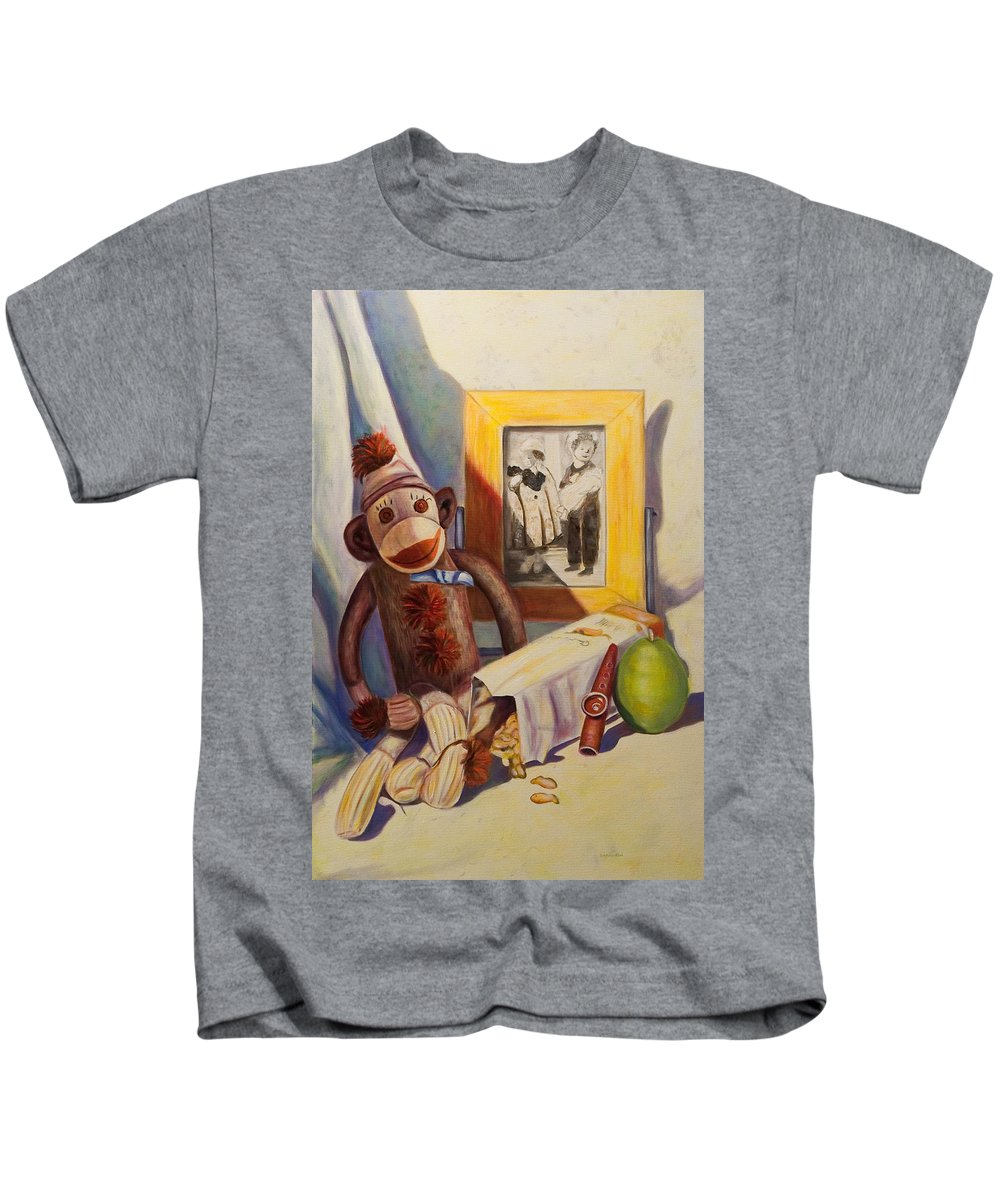 Children Kids T-Shirt featuring the painting I Will Remember You by Shannon Grissom