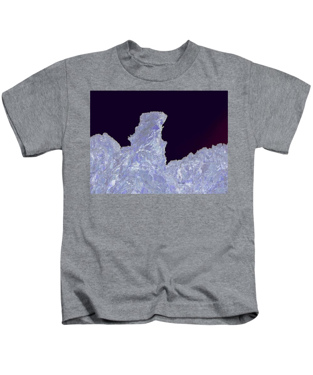 Abstract Kids T-Shirt featuring the photograph Ice Cliff by Jeff Swan