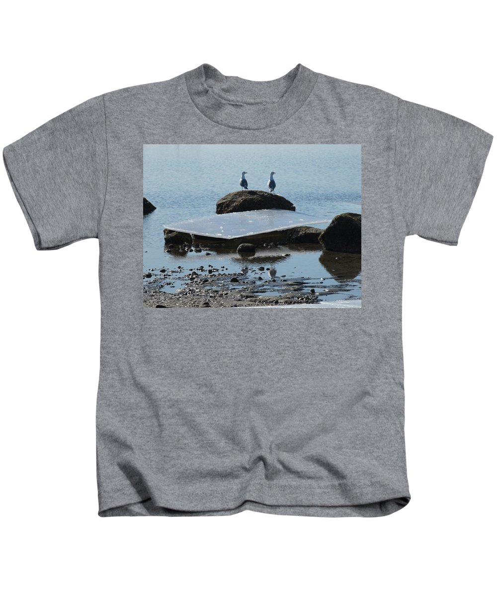 Ocean Kids T-Shirt featuring the photograph Ice Monolith by Bruce Gannon