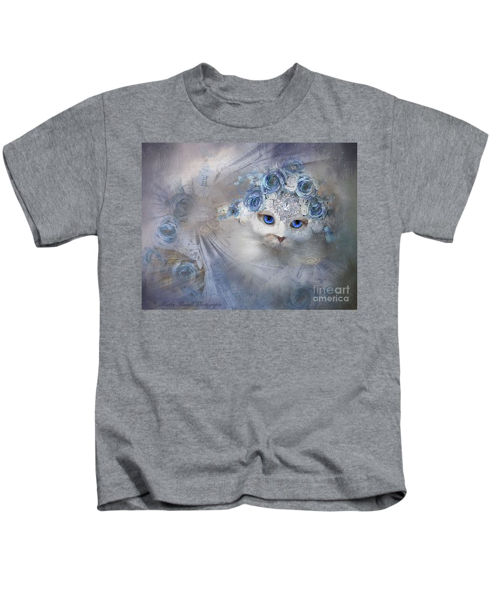 Whimsical Kids T-Shirt featuring the photograph Ice Queen by Kathy Russell