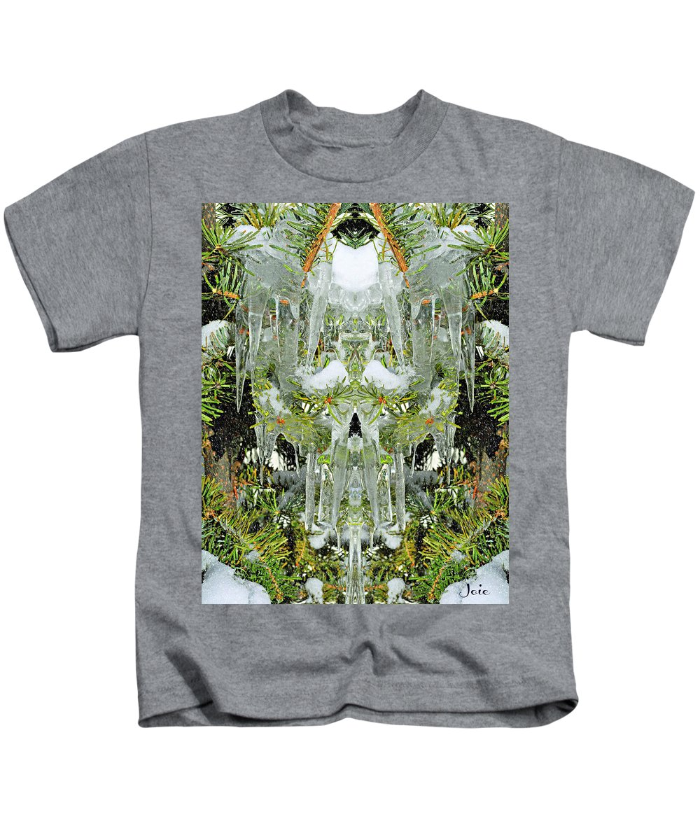 Icicle Kids T-Shirt featuring the photograph Icicle by Joanne D'Ambrosio