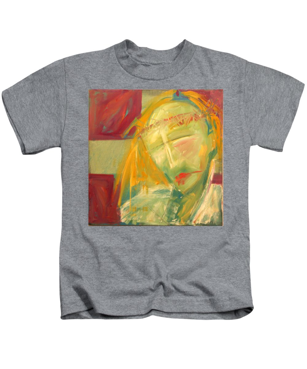Christ Kids T-Shirt featuring the greeting card Icon Number Ten by Tim Nyberg