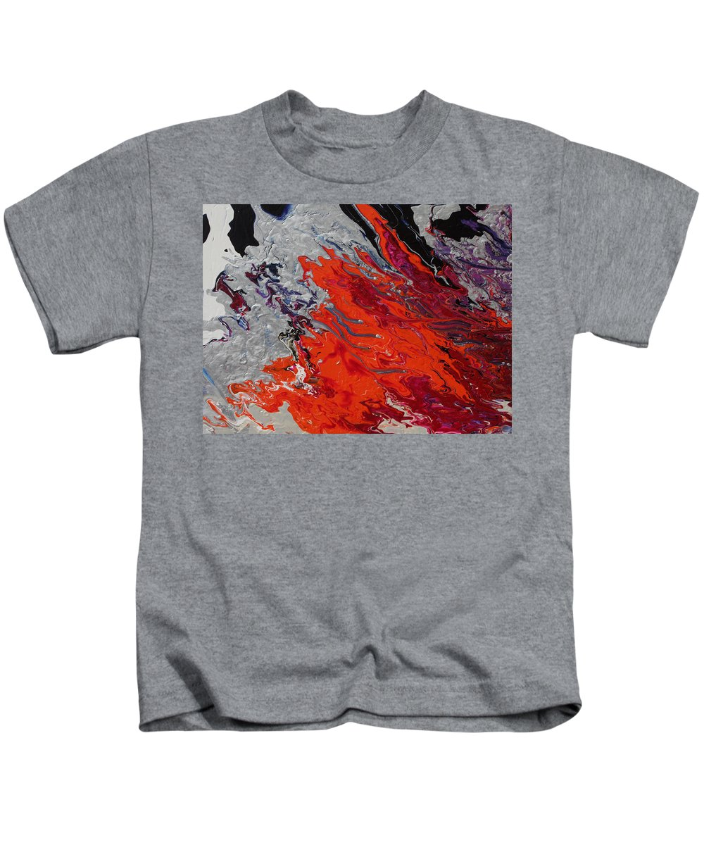 Fusionart Kids T-Shirt featuring the painting Ignition by Ralph White