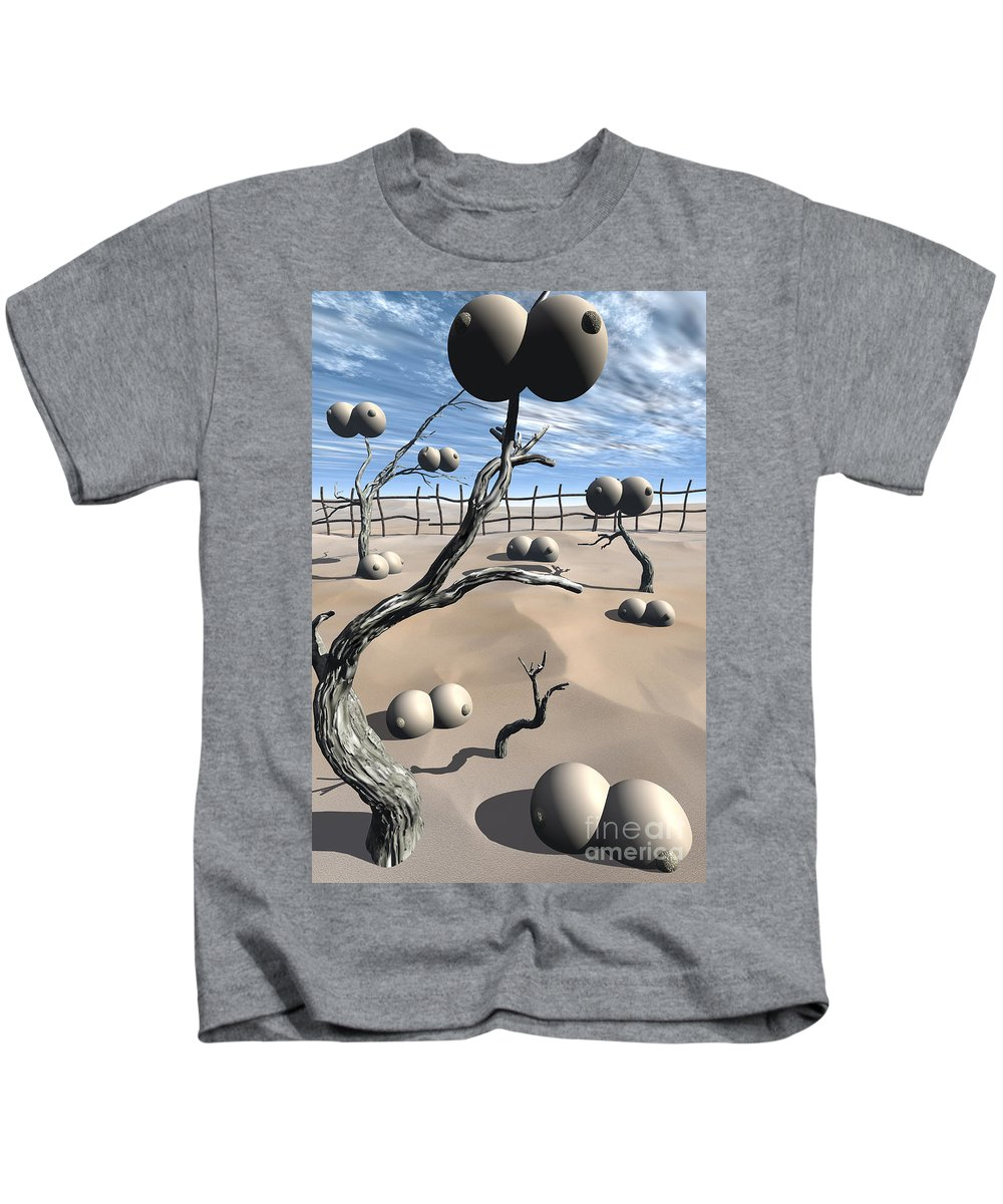 Humor Kids T-Shirt featuring the digital art Imm Plants by Richard Rizzo