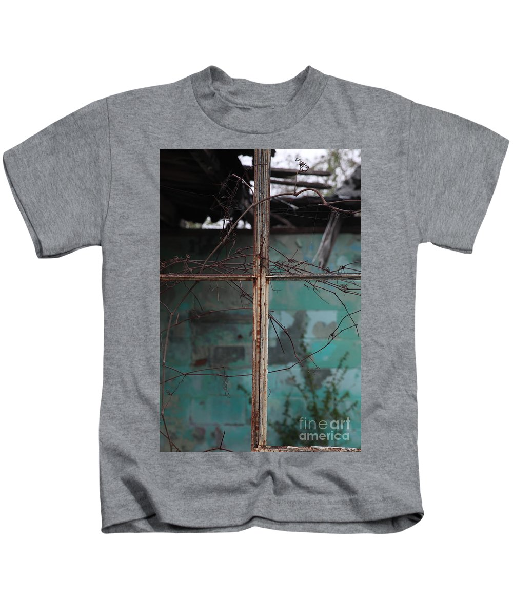 Windows Kids T-Shirt featuring the photograph Imposition by Amanda Barcon