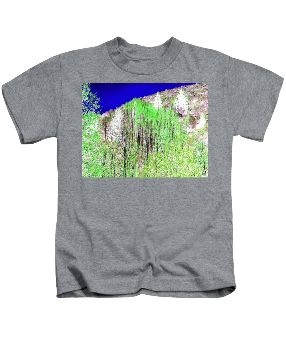 Impressions Kids T-Shirt featuring the digital art Impressions 12 by Will Borden
