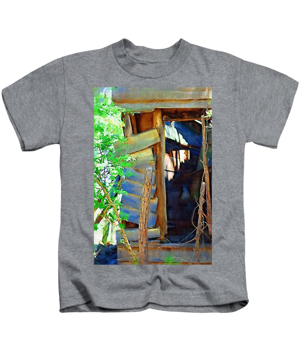 House Kids T-Shirt featuring the photograph In Shambles by Donna Bentley