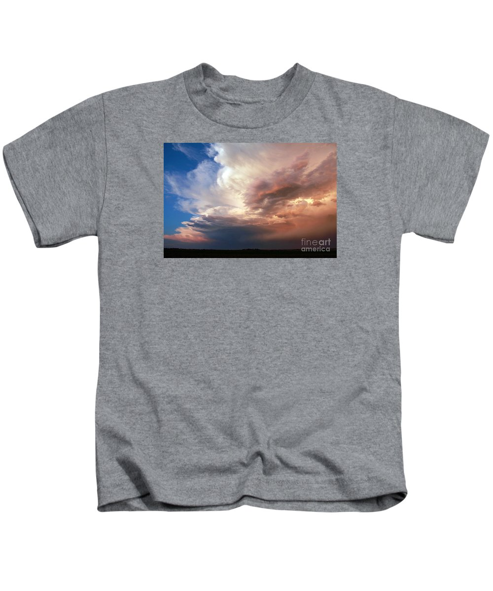 Stormchasing Kids T-Shirt featuring the photograph In The Clear by Josh Alecci