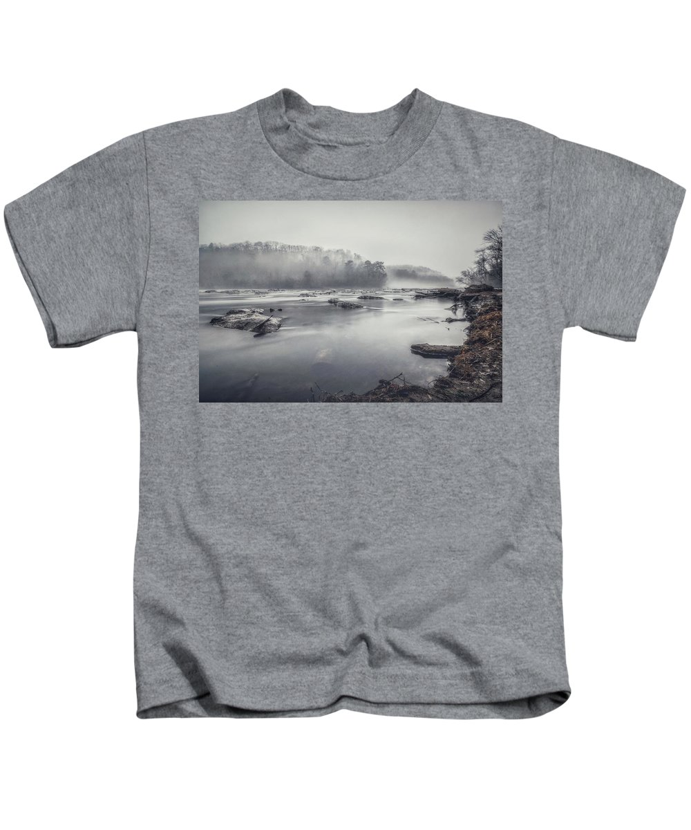 Fog Kids T-Shirt featuring the photograph In The Fog by Mike Dunn
