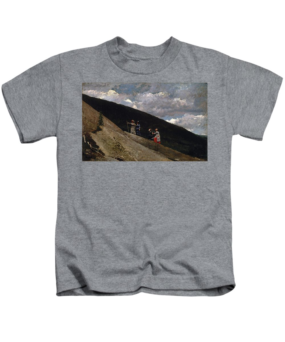 Winslow Homer Kids T-Shirt featuring the painting In The Mountains by Winslow Homer