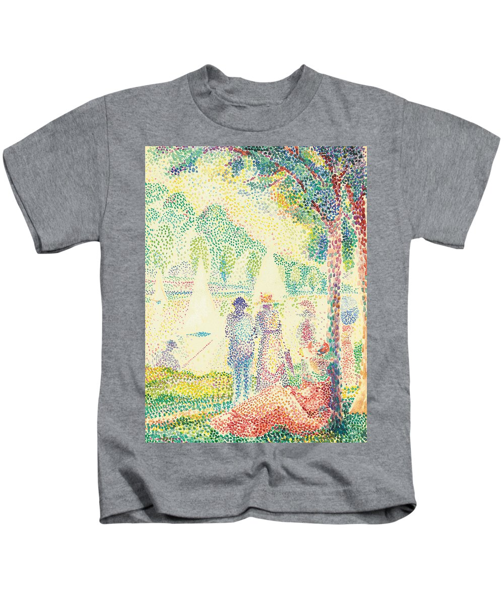 In The Park Kids T-Shirt featuring the painting In The Park by Hippolyte Petitjean