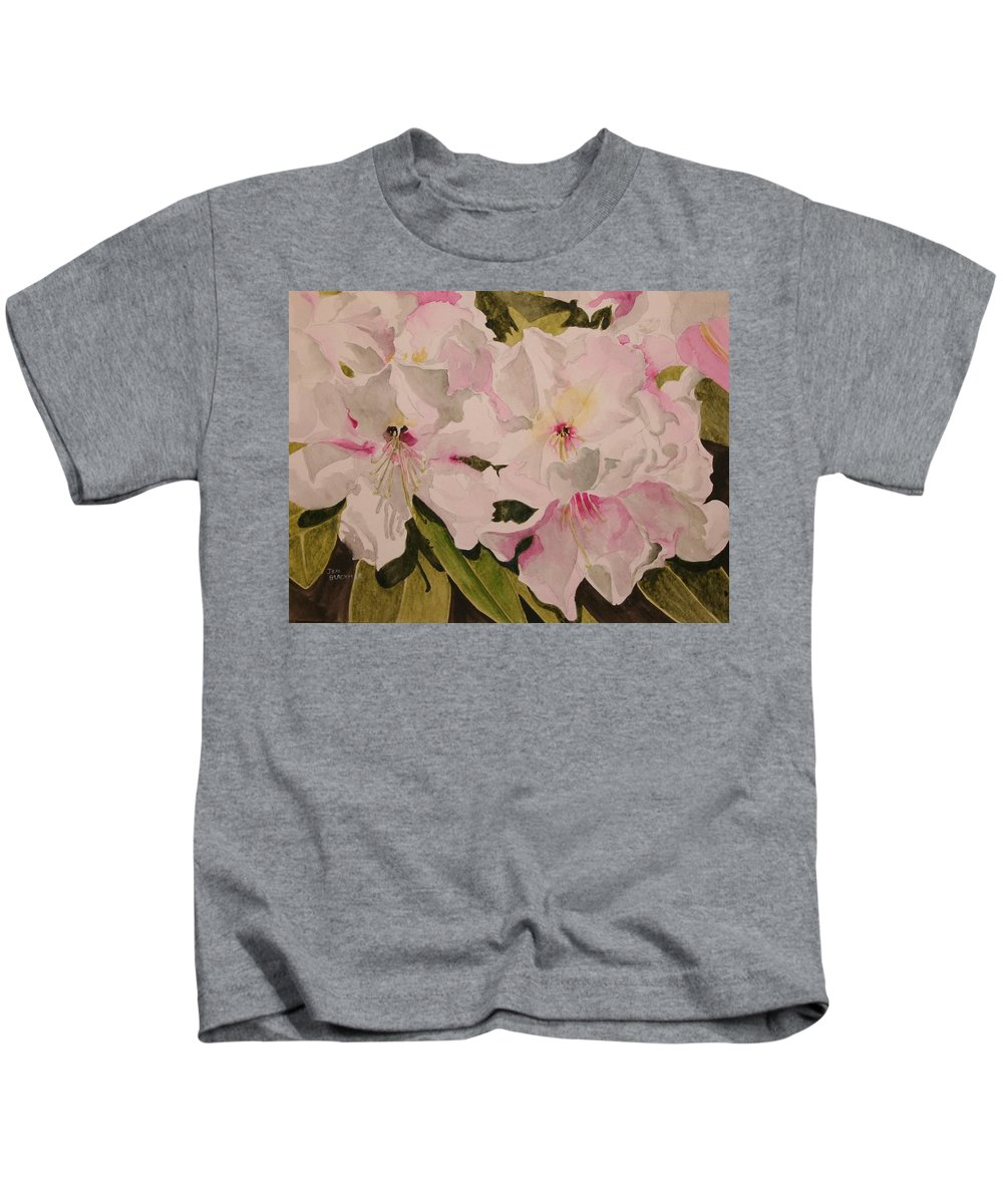 Pink Kids T-Shirt featuring the painting In The Pink by Jean Blackmer
