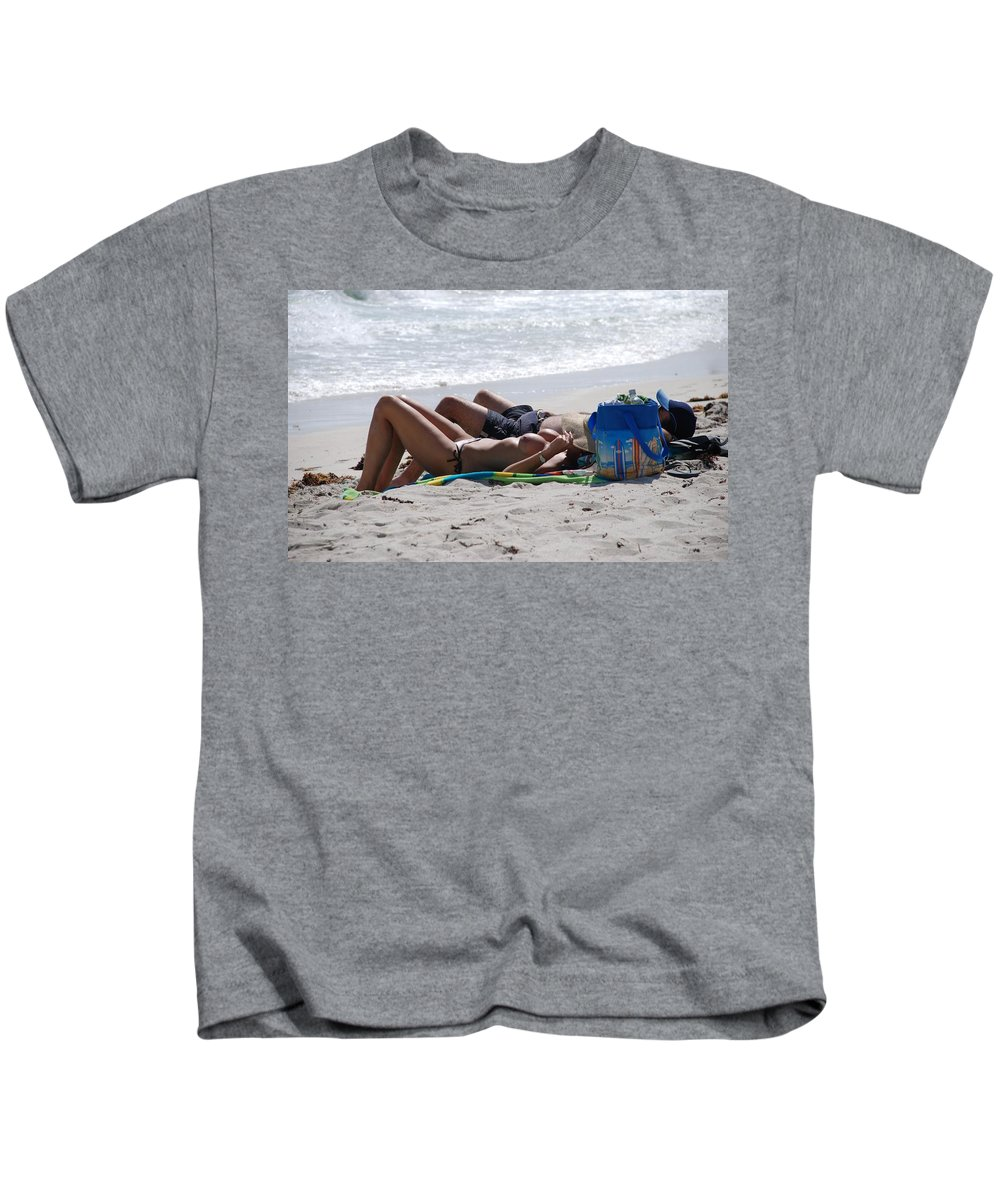 Nude Kids T-Shirt featuring the photograph In The Sand At Paradise Beach by Rob Hans